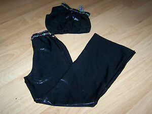 Child-Size-Large-Libby-Lu-Black-Silver-Sequined-Dance-Costume-Outfit-Pants-Top
