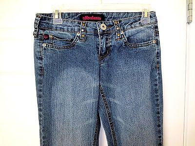 Distressed Gold Finish (Ultra Love Jeans Flare Medium Distressed Finish Gold Studs  Size 1  NWOT  #J8)