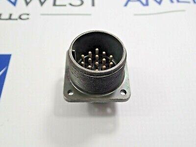 Amphenol Ms3102a20-27p Circular 14 Pin Connector Receptacle