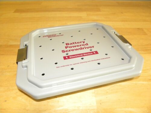 Synthes Maxillofacial Battery Powered Screwdriver Sterilization Storage Case
