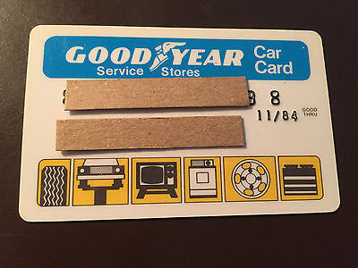 Goodyear Tire   Rubber Company 1980S Vintage Collectors Credit Card