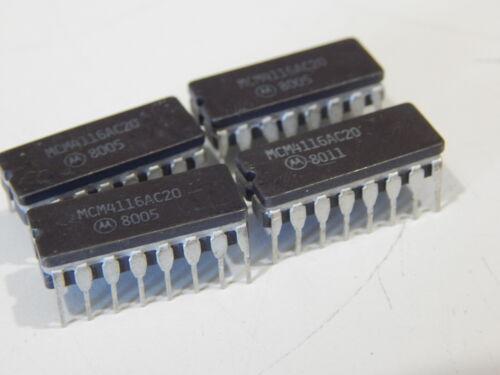 MOTOROLA MCM4116AC20 Dynamic RAM Page Mode 16K x 1 16 Pin DIP - LOT OF 4 IC