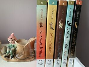 A wrinkle in time series 5 books by Madeline L'engle.