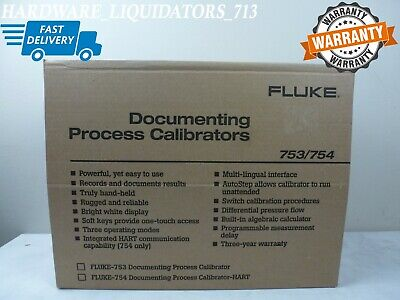 New Fluke 754 Documenting Process Calibrator With Hart With Case And Test Probes