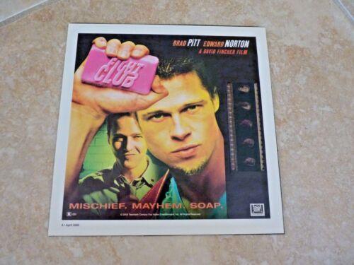 "Brad Pitt Fight Club 2000 Ed Norton Film Cell Display 8.5 x 8.5"""