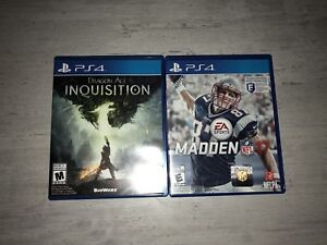 PS4 Inquisition Dragon age and Madden NFL 17