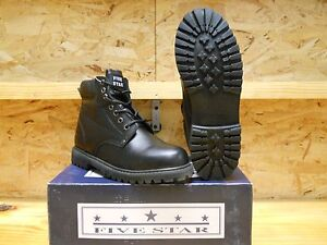 WORK-BOOTS-WIDE-6-034-BLACK-LEATHER-WATER-RESISTANT-UPPERS-OIL-RESISTANT-SOLES