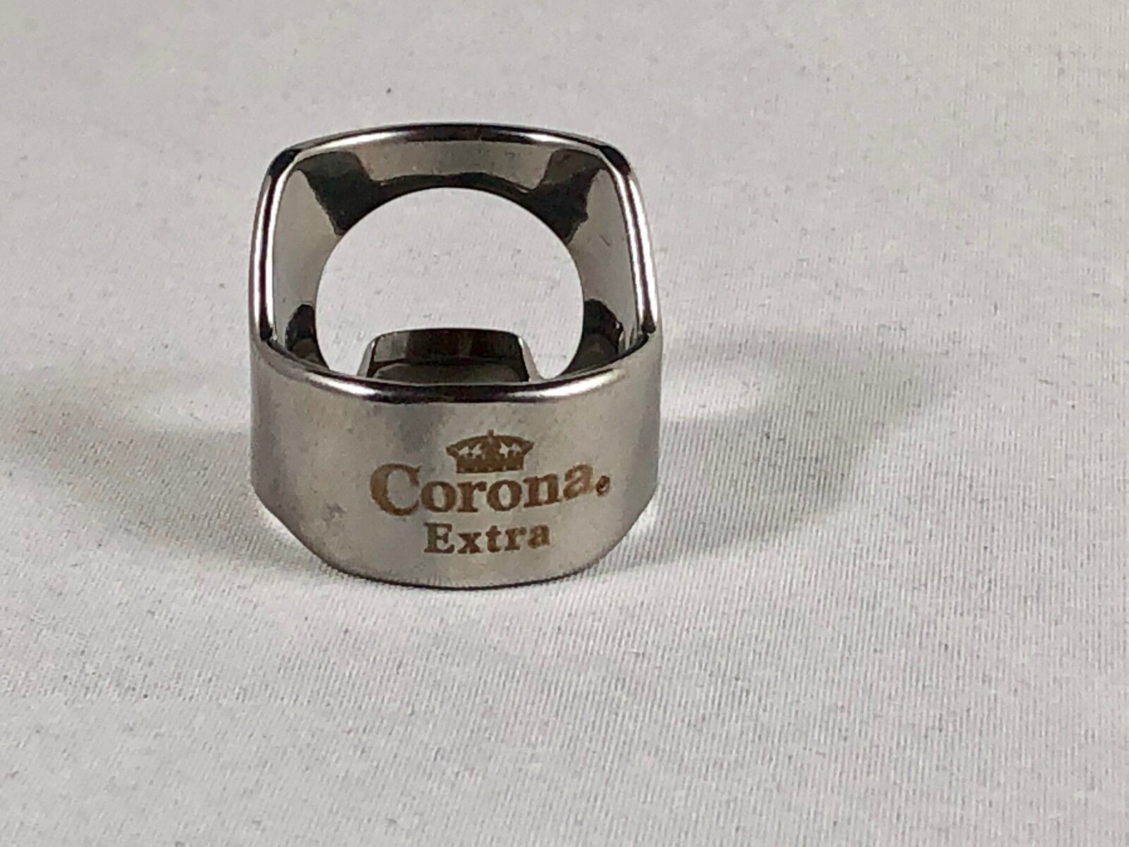 Corona Extra Beer Bottle Opener Ring Stainless Steel Engrave