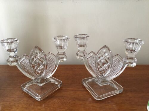 """RARE PAIR of Vintage Imperial """"CAPE COD"""" Double CANDLESTICK!"""