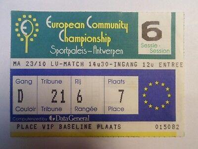 European Community Championship - 23/10/1987 - Ticket Tennis -Sportpaleis Anvers