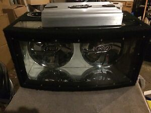 """2 Jensen 10"""" subs with 1000w amp"""