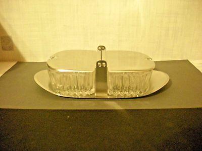 Servierplatte - Marmelade - Fleischsalat - Tischfein - 18/8 - Glas - ansehen