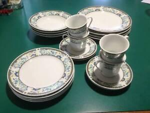 20 Piece Vintage Ceramic Dinner Set For 4 Pagoda