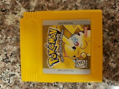 Pokemon Yellow Special Pikachu Edition Nintendo Gameboy 1999 Video Game