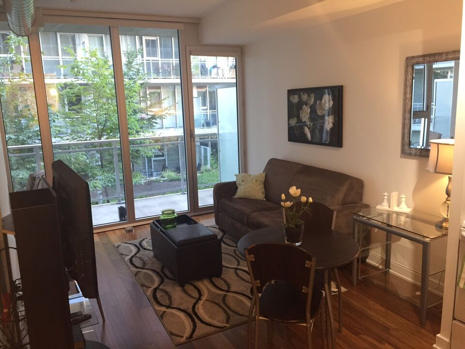Fully Furnished One Bedroom Condo Centretown Ottawa