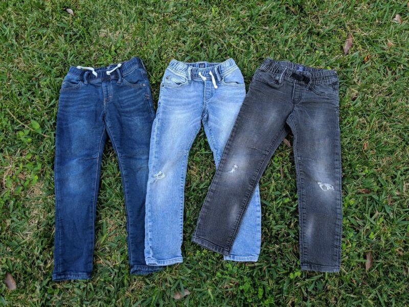 LOT Gap Kids Distressed Jogger Drawstring Slim Fit Stretch Soft Jeans SZ S (6-7)