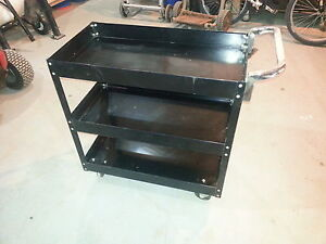 Powerfist 3-Shelf Steel Service Cart