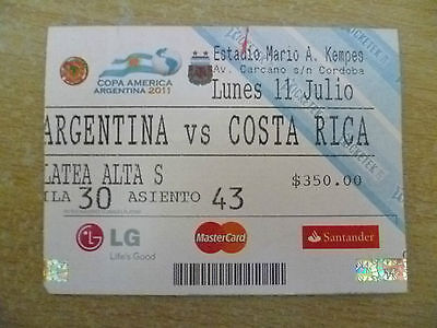 Org* Tickets- Copa America Argentina 2011- ARGENTINA v COSTA RICE