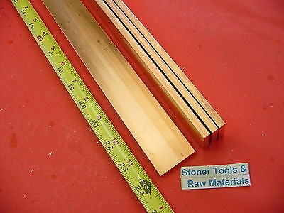 4 Pieces 14x 1-12 C110 Copper Bar 24 Long Solid Flat .25 Bus Bar Stock H02