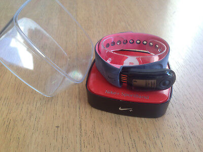 8259431f638989 Nike+ Sportband running WM0058 068 blackchallenge red brand new!