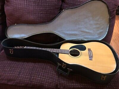 Vintage Conn Acoustic Guitar 70's F-25  With Chipboard Case