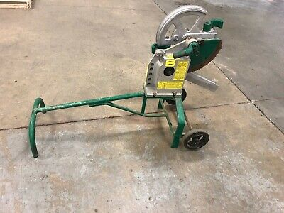 Greenlee 1818 Mechanical Bender W 1-14 1-12 Emt Shoes Used Good Condition