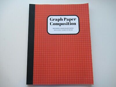 Composition Notebook Graph Ruled Paper 100 Pages Soft Cover Writing Notebook...