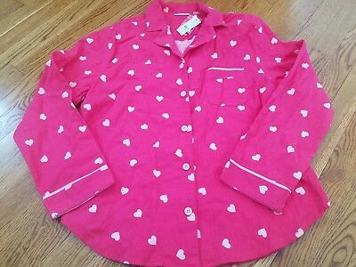 NWT Womens Pink Hearts NY & Co Valentines Day PJs Pajama Top Shirt XL $42.95 (Valentines Pjs)