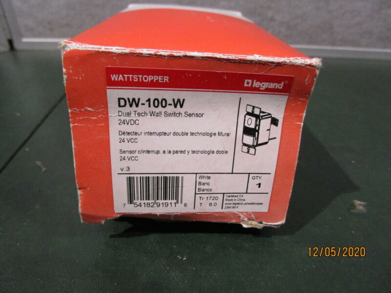 Legrand Wattstopper DW100W Dual Tech Wall Switch Sensor