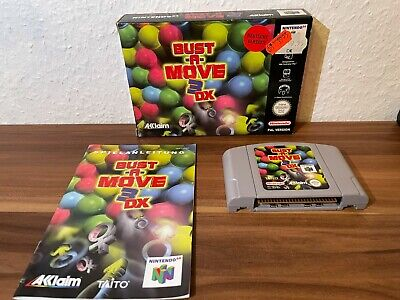 Bust A Move 3 DX Nintendo 64 N64 original OVP CIB PAL Sammlerzustand