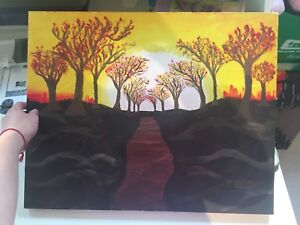 """""""Sunset Trail"""" Canvas Painting"""
