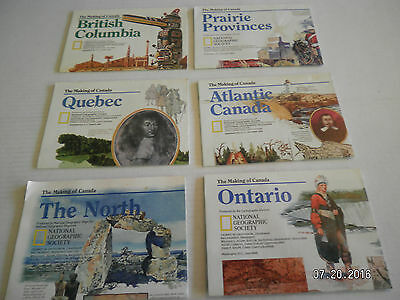 6 CANADA  MAPS FROM  NATIONAL GEOGRAPHIC SOCIETY..MAKING OF CANADA SERIES