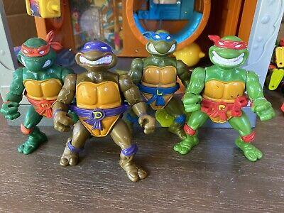 Vintage TMNT Lot of 4 1991  STORAGE SHELL Ninja Turtles  Don Raph Leo Mikey