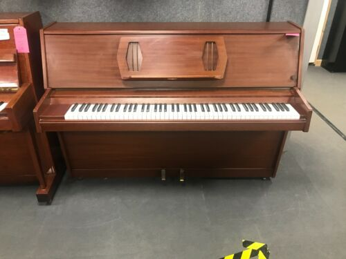 Challen 988 Upright Piano - Mahogany Teak - English - WE CAN DELIVER THIS PIANO