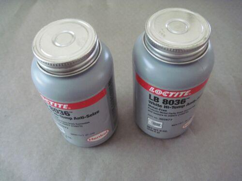 Lot of 2 Loctite LB 8036 Hi-Temp Anti-Seize Compound, White, 8 oz. 302677