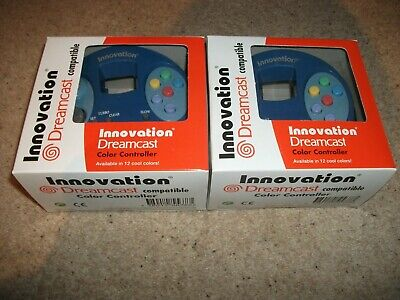 2x DREAMCAST CONTROLLER - INNOVATION - BLUE - NEW & BOXED