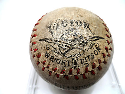 ANTIQUE VICTOR WRIGHT & DITSON CHAMPION BASEBALL DEAD BALL ERA MUSEUM QUALITY!
