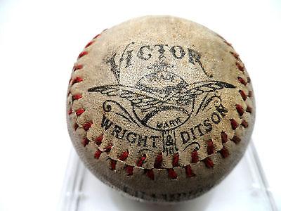ANTIQUE VICTOR WRIGHT & DITSON CHAMPION BASEBALL DEAD BALL ERA MUSEUM QUALITY!