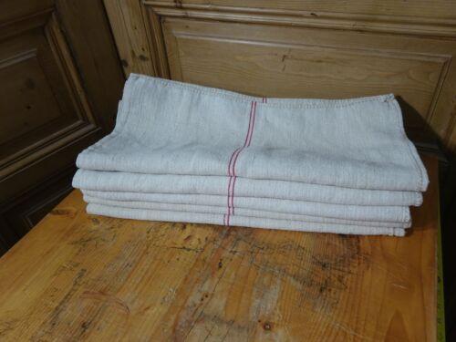Antique European Feed Sack GRAIN SACK Red Stripe # 9620