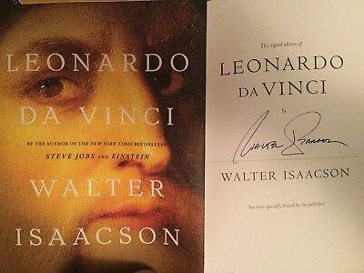 Signed Leonardo Da Vinci By Walter Isaacson 2017 Hcdj Wow