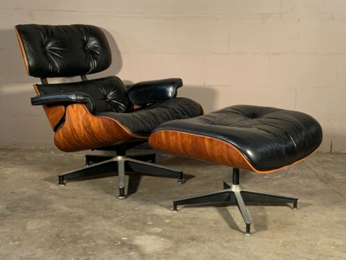 Vintage Eames for Herman Miller 670/671 Rosewood Lounge Chair and Ottoman