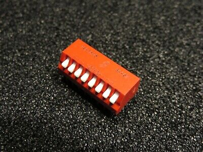 10pcs Grayhill Spst Dip Switch Onoff 8 Position Through Hole.