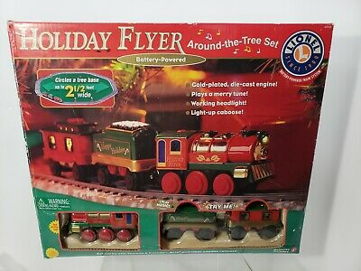 Lionel Holiday Flyer Train Tree Set Music/lights WORKS Christmas