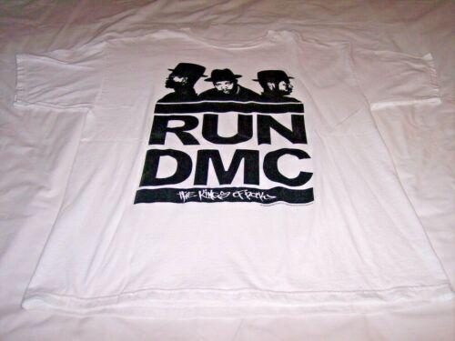 Run DMC The Kings of Rock White Shirt Adult Large 2009 Anthill Rockware