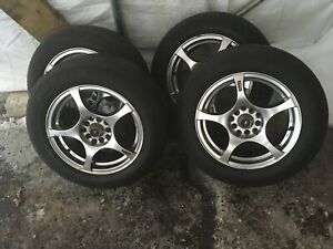 4 summer tires with mag 195/65/15 (5x114.3) (5x100)