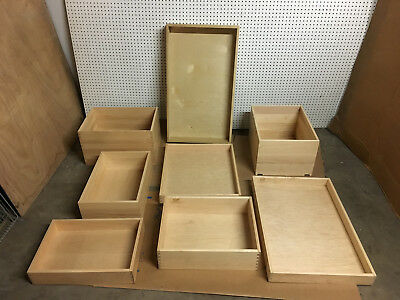 1 real Maple Wood pantry pullout Drawers Undermount Cutouts. 5 others read below