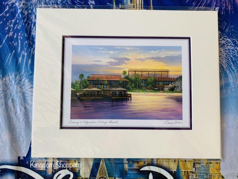 "Disney Parks POLYNESIAN VILLAGE RESORT By Larry Dotson Print NEW 8"" x 10"""