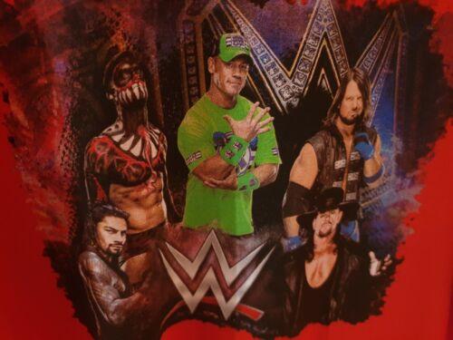 WWE John Cena Undertaker AJ Styles Finn Balor Roman Reigns rot T-Shirt Gr. M