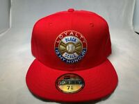 NEW RHTBLK-22 BLACK SCALE X NEW ERA RED B GOLD WEAR MENS HAT FITTED