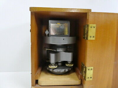 Brunson Theodolite Jig Transit Scope Square Stand W Mirror. Rare